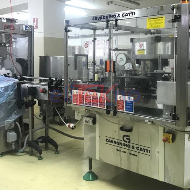 USED BOTTLING PLAT WITH STELVIN CAP - ELITEKNO BOTTLING SOLUTIONS