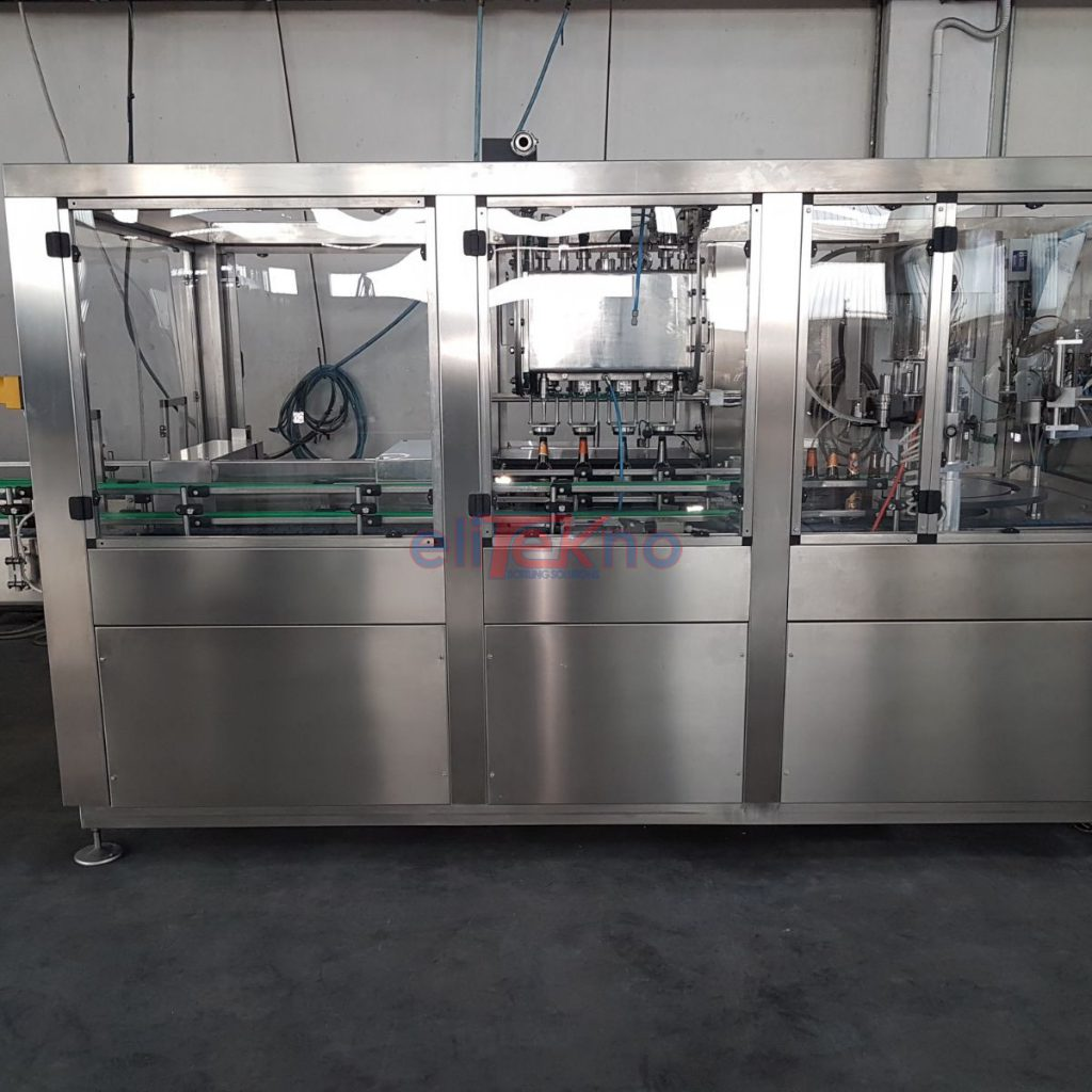 USED FILLING MONBLOCK FOR BEER CROWN 26MM AND 29MM - ELITEKNO BOTTLING SOLUTIONS