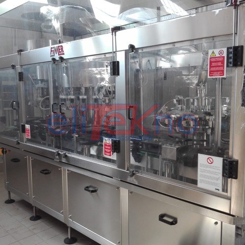 USED FILLING MONOBLOCK FIMER 16 16 1 3.000 BPH GRAVITY - ELITEKNO BOTTLING SOLUTIONS