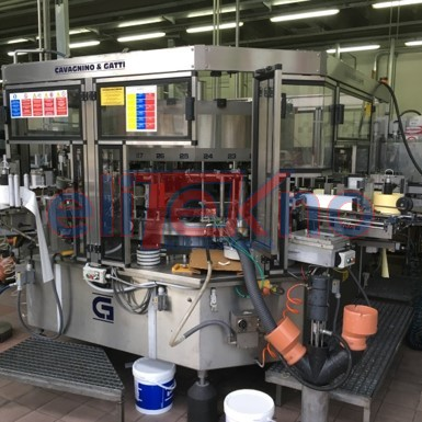 USED LABELLER CAVAGNINO&GATTI - ELITEKNO BOTTLING SOLUTIONS