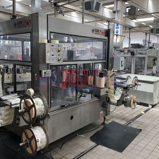 Used labeller sacmi 10 heads adhesive stations for detergents - ELITEKNO BOTTLING SOLUTIONS