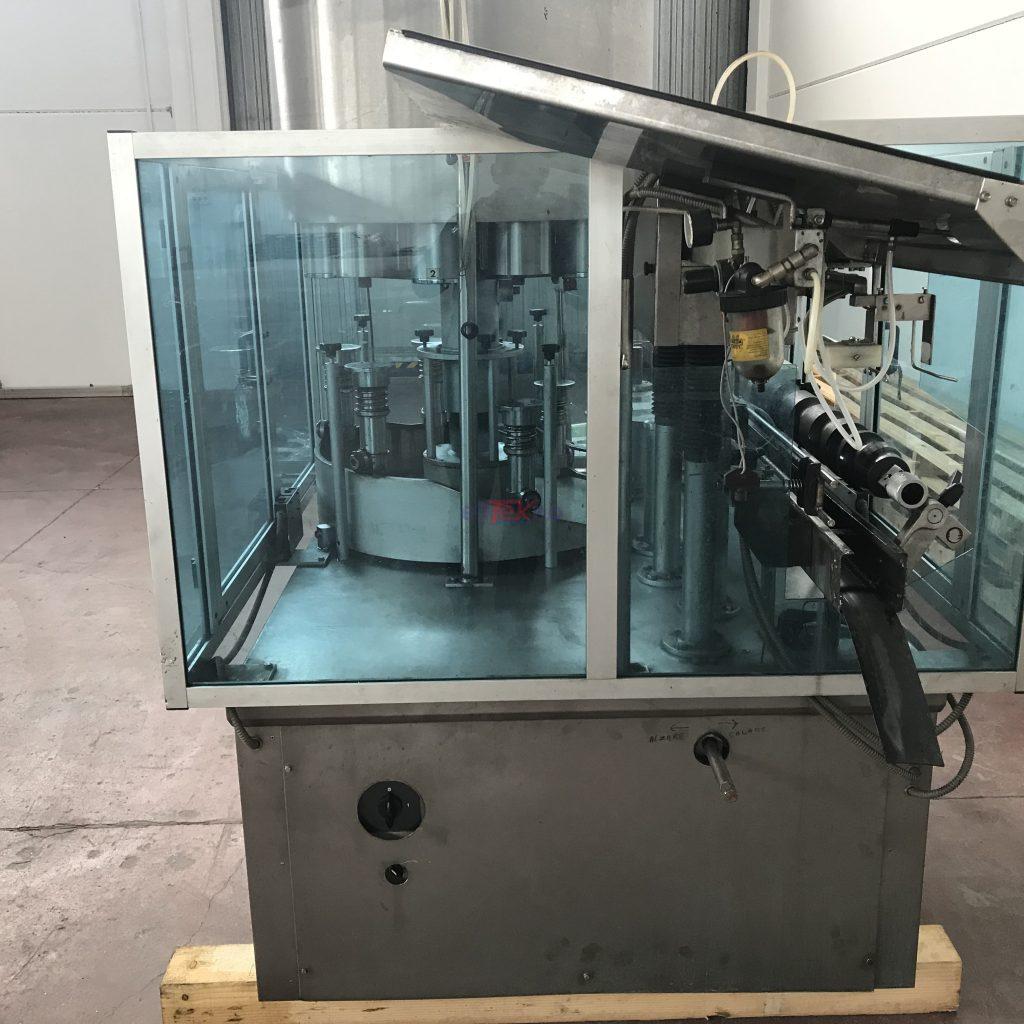 Capsulatrice usata 6 6 teste per pvc e spumante - elitekno bottling solutions