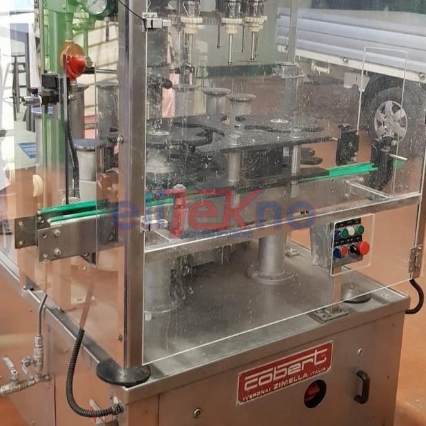 Riempitrice usata COBERT 16 valvole a leggera depressione, 2.500 bph. In vendita. Protezioni antinfortunistiche. Elitekno Bottling Solutions. 4